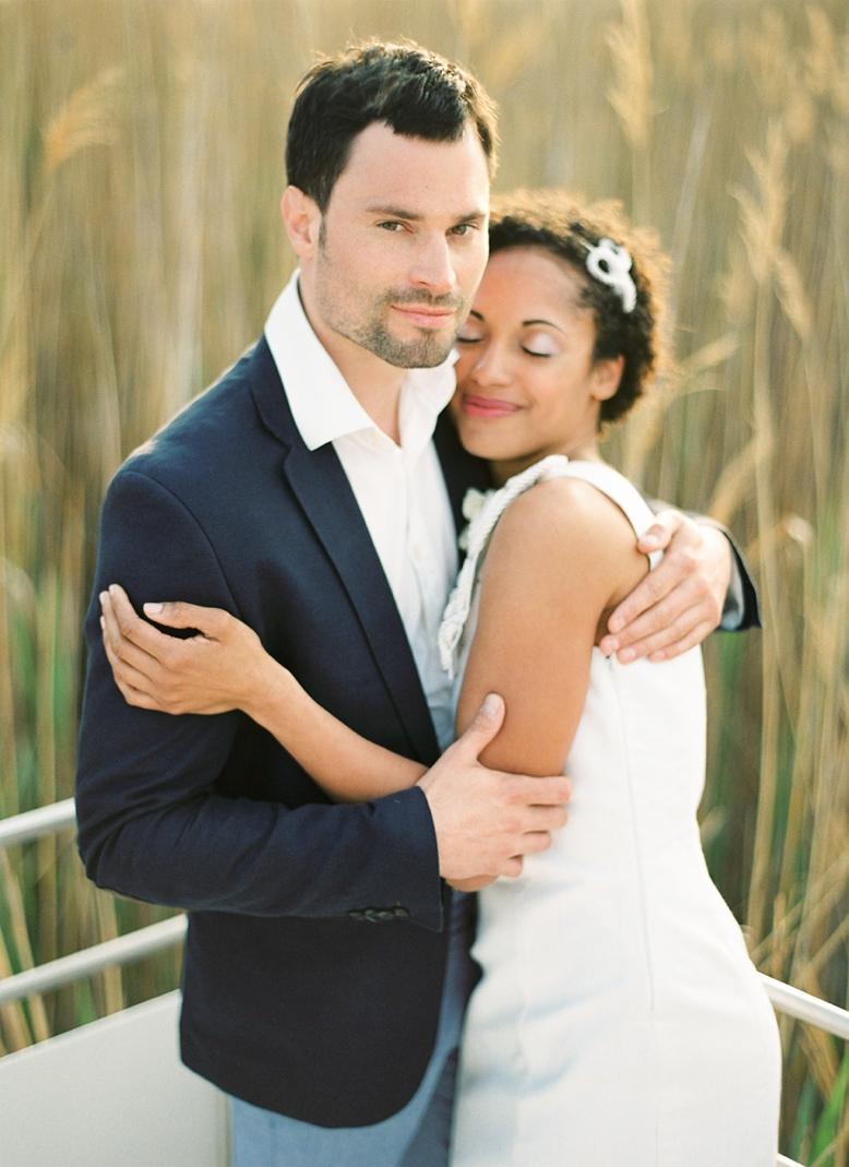 Nautical Seaside Wedding Inspiration wedding and couple photography by peachesandmint.com