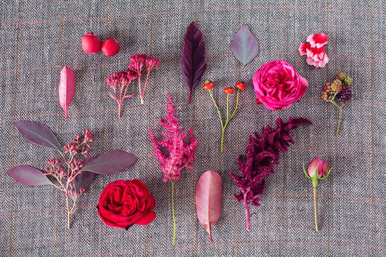 Bold Red & Pink Flowers - Autumn wedding floral inspiration