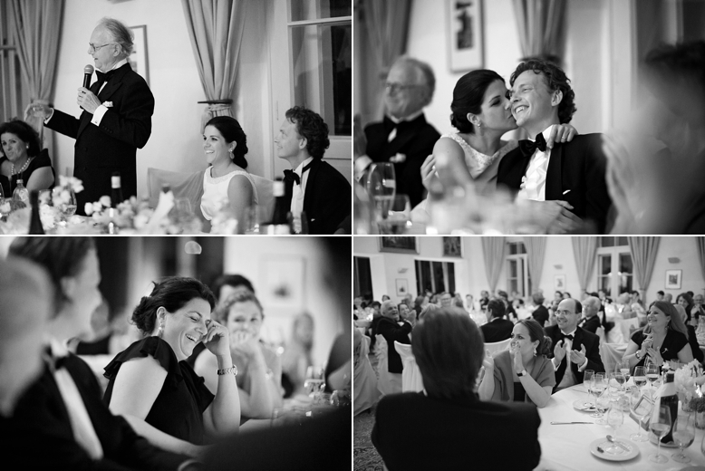 Dinner and speeches at austrian wedding in Carinthia, wedding photography by one of Austrians top wedding photographers