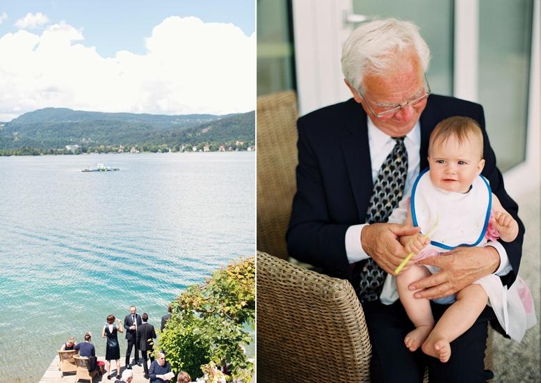 Heiraten am Wörthersee, Sommer Hochzeit in Kärnten, Opa mit Enkerl