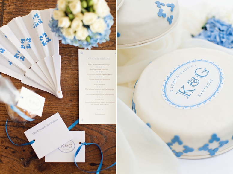 Hochzeits Papeterie by Herz&Co, stunning letterpress wedding stationery in white & blue by Herz&CO Austria