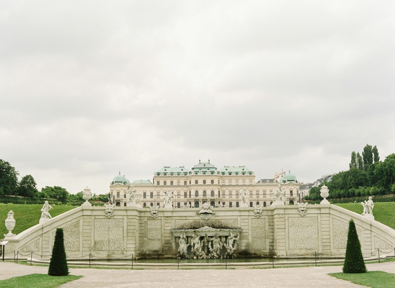 Schloss Belvedere Vienna City Wedding by peaches and mint