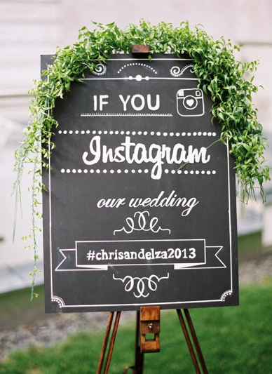 Instagram Wedding Sign by Lovelyweddings.at Instagram Wedding Hashtag