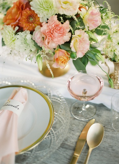 Gold, peach & blush inspired summer wedding
