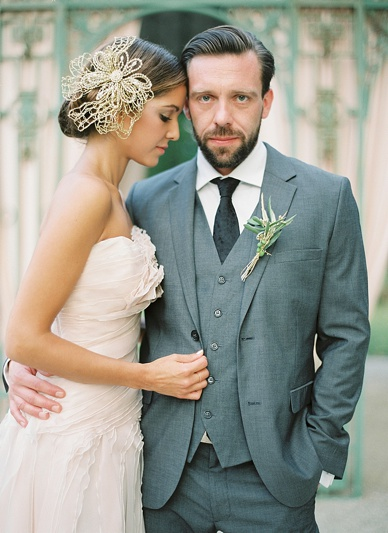 Verinas dress & Niely Hoetsch headpiece bride styling