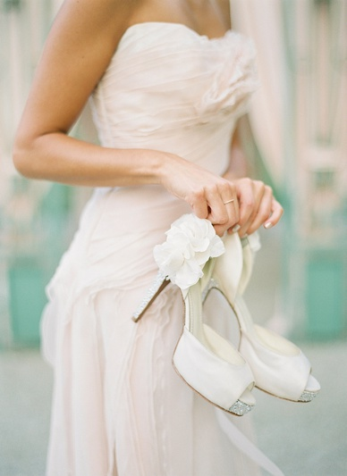 Designer wedding shoes by Francesca Giobbi