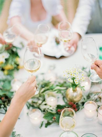 Summer Outdoor Wedding Gold White Green