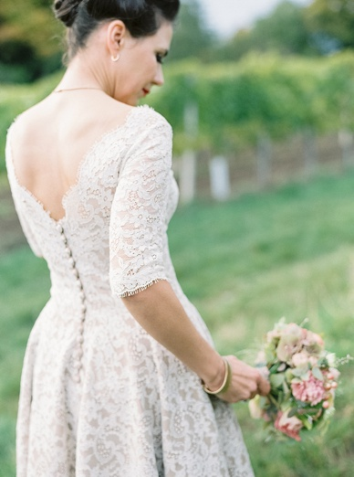 Beautiful 50s Style Bride in Lena Hoschek dress