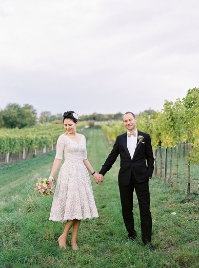 Wedding in the vinyards of Vienna by peachesandmint.com