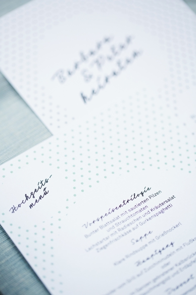 50s inspired wedding stationery by hochzeitsdesign.com