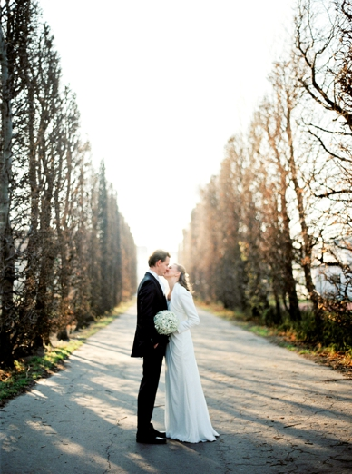 Beautiful wedding in Vienna bride & groom portraits by peaches & mint
