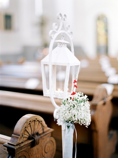 Winter wedding decoration in church