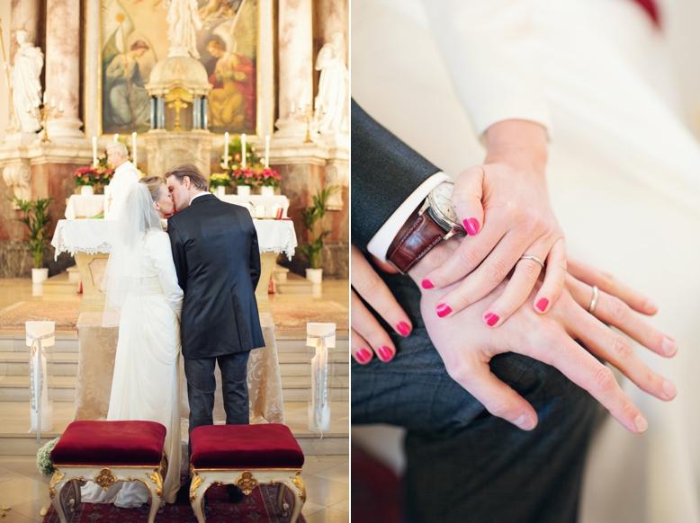 Elegant Swiss-Austrian Wedding in Vienna's Kaasgraben Kirche