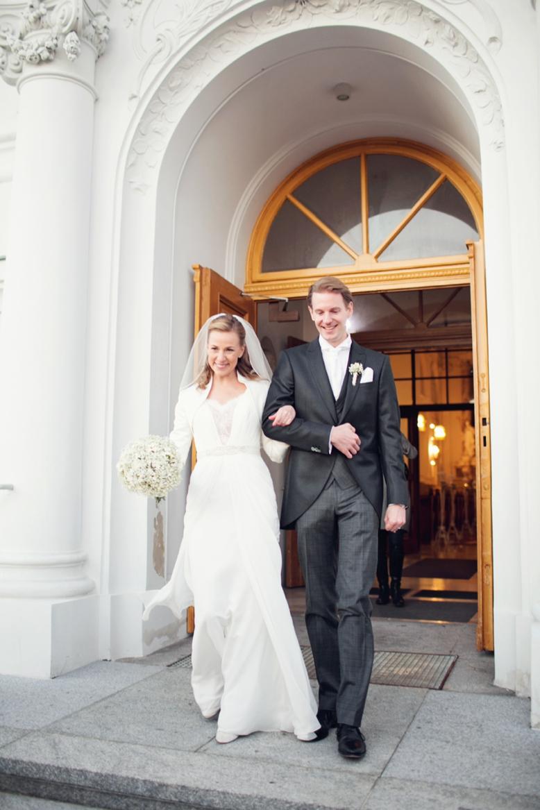 Bride & Groom leaving the church in Vienna