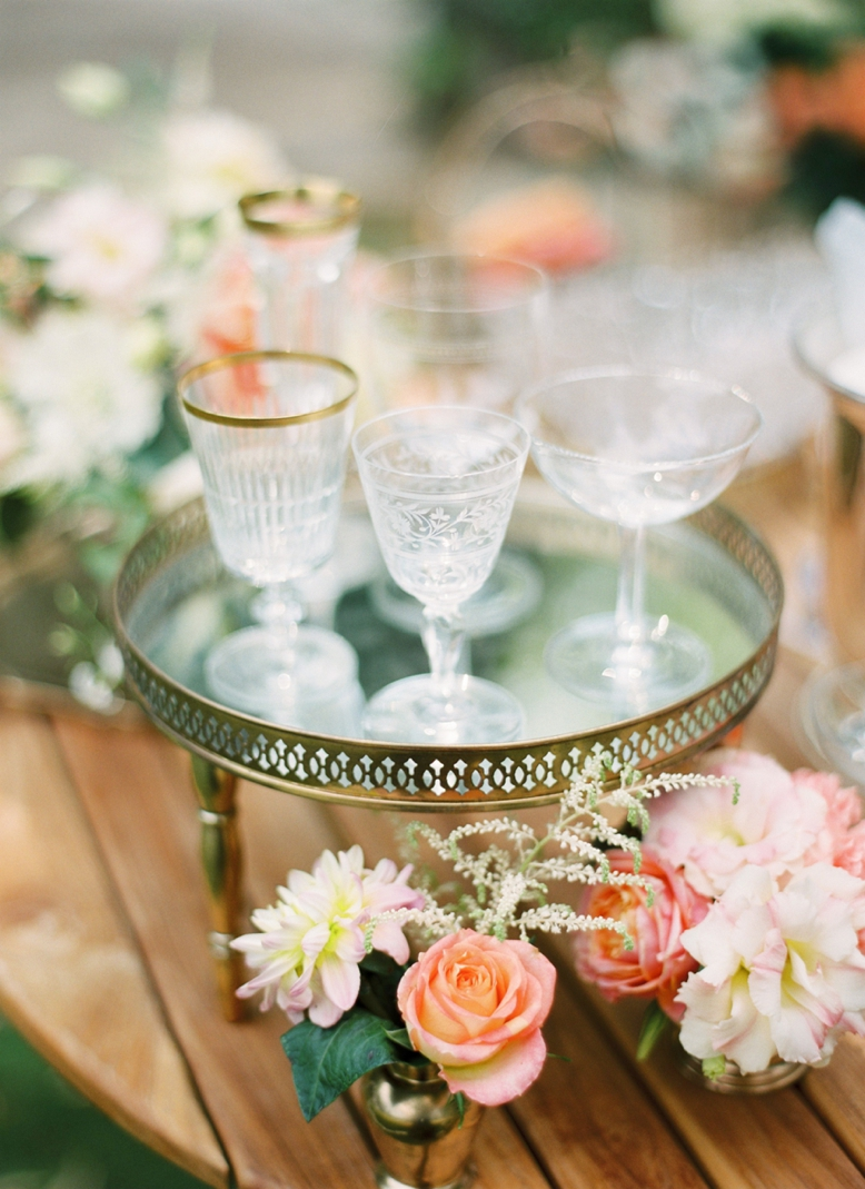 Mixed vintage wine glasses photography by peaches & mint