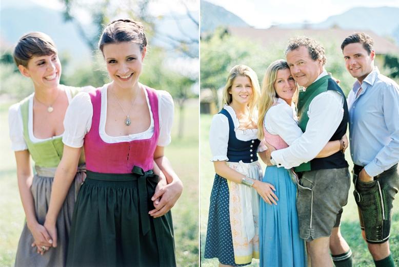 Lederhosen & Dirndl Style Austria summer wedding