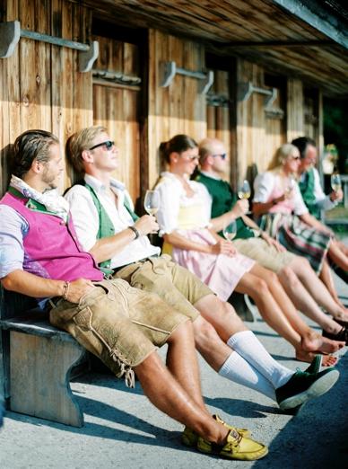 Trachtenhochzeit Austria traditional clothing Lederhosen & Dirndl