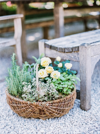 Rustic summer wedding decoration