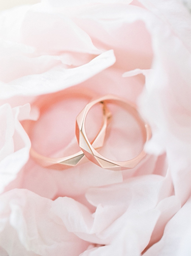 Stunning rose gold wedding rings by Anton Kerecz