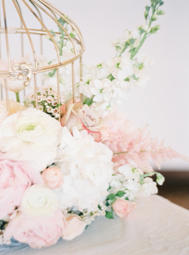 Blush floral inspiration for weddings