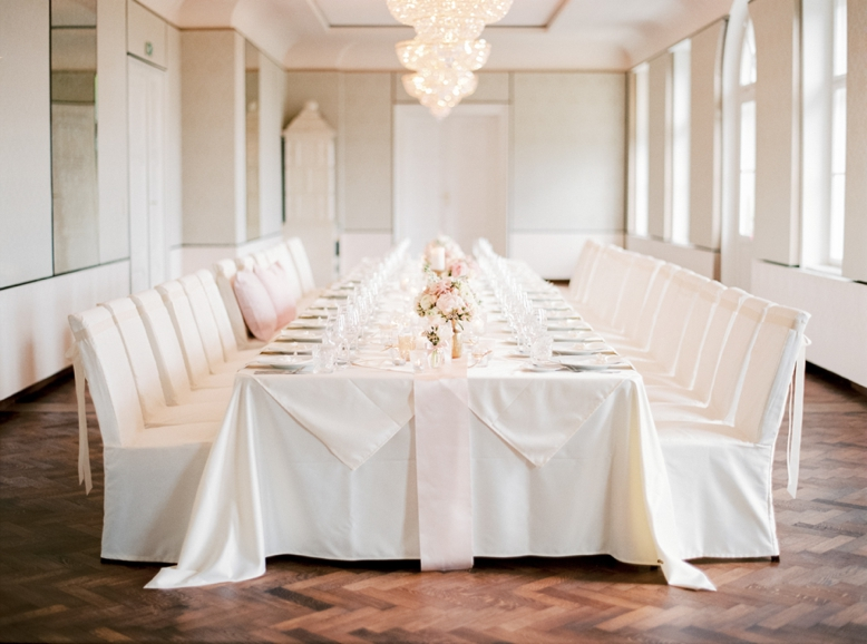 Long wedding table intimate weddings Austria