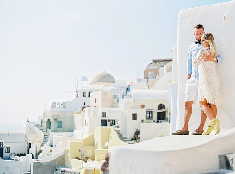 Santorini Wedding & Honeymoon photographer www.peachesandmint.com