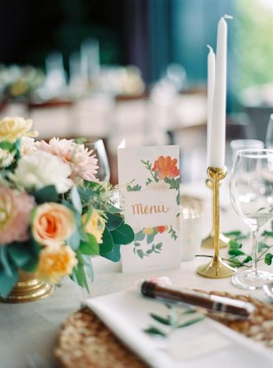 Wedding stationery for intimate Vienna wedding by waldundschwert.com
