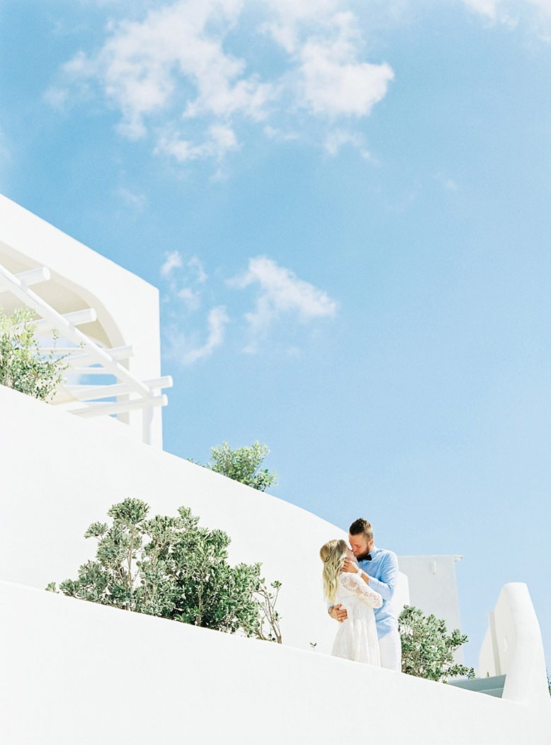 Santorini wedding and honeymoon photographer fine art film photography peaches & mint