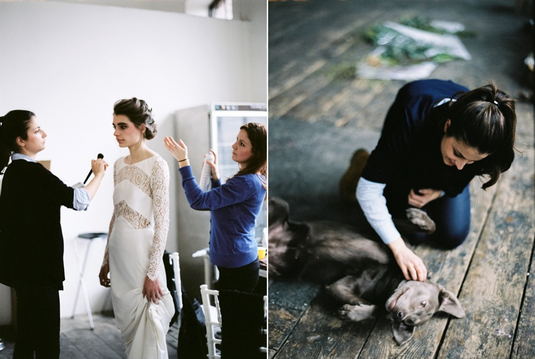 Behind the scenes of wedding inspiration photo shoot by peaches & mint
