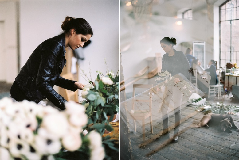 Fiona Seidl of Flowerup behind the scenes