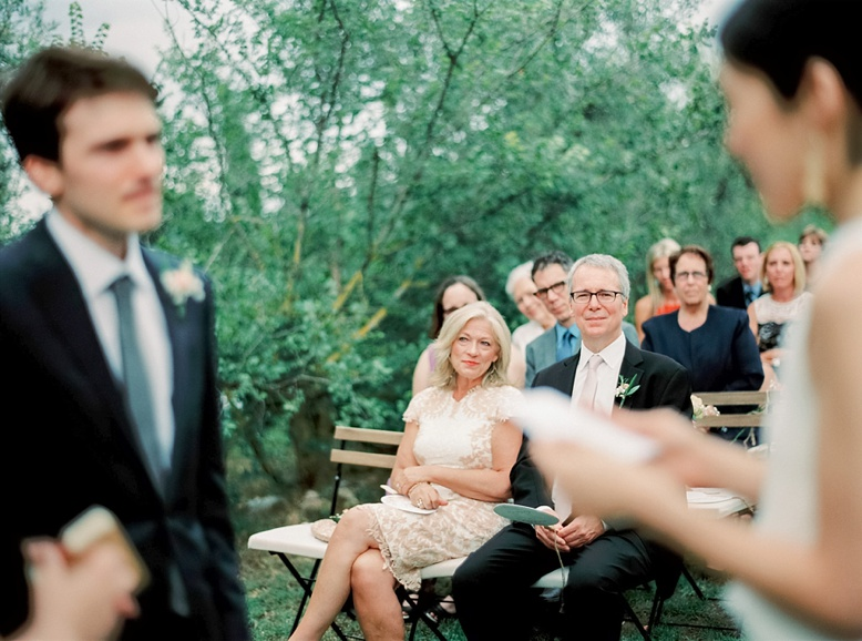 Beautiful outdoor ceremony among the olive groves
