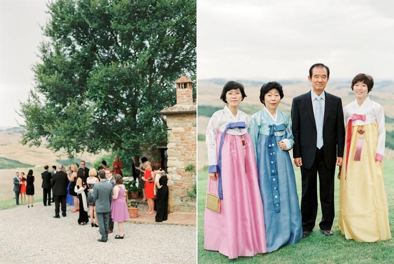 American-Korean destination wedding at The Lazy Olive - Podere Finerri