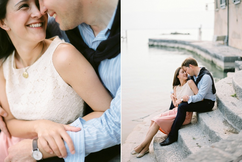 Romantic Lago di Garda sunset shoot by peaches & mint