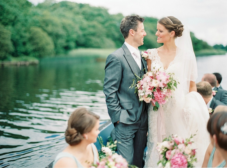 Romantic and elegant Crom castle destination wedding Ireland captured by film photographer Pia Clodi of peachesandmint.com