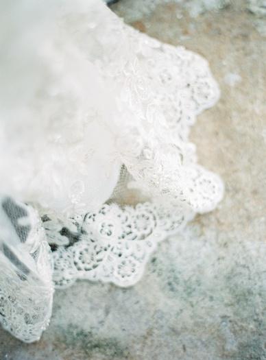 Lace details wedding dress