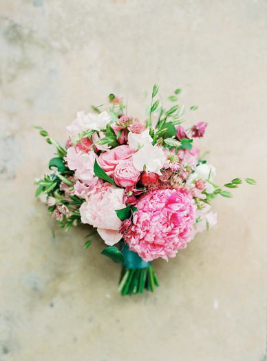 Pink wedding bouquet by UK floral artists Floral Earth