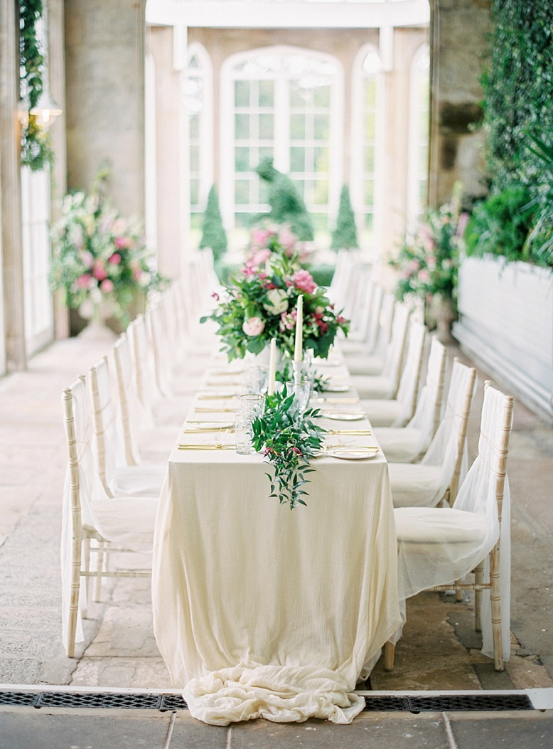 Romantic tablescape styled by Pearl & Godiva for Crom Castle destination wedding photography by peaches & mint