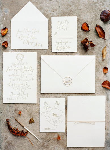Elegant and timeless wedding stationery design by Magva Letterpress & Design styled by Pearl&Godiva