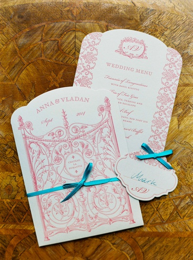 Elegant letterpress wedding stationery by the artists of Herz&Co