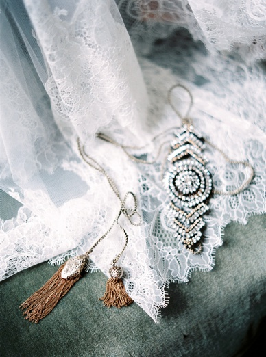 Stunning lace details at french chateau wedding caught on film by peaches & mint