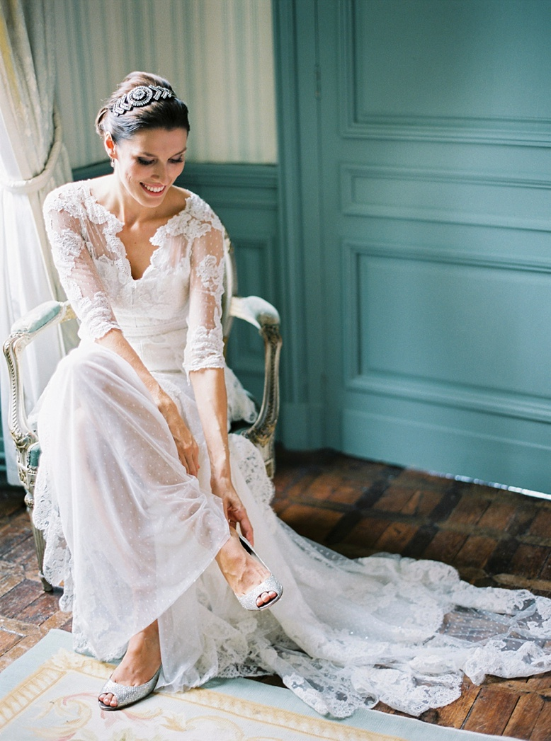 Timeless film photography captures the beauty & magic of the this France destination wedding