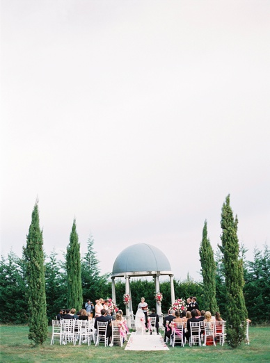 exquisite outdoor ceremony setting
