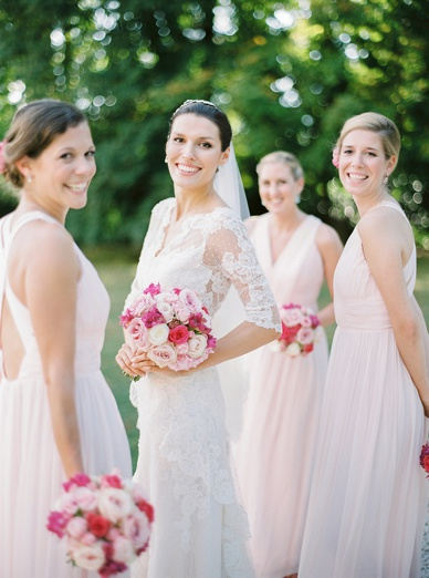 Bridal Party at destination wedding France