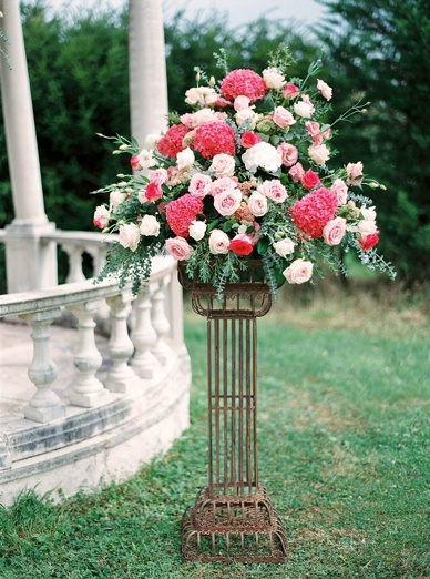 Floral wonders at Outdoor ceremony setting France by florist www.frenchflowerstyle.co.uk