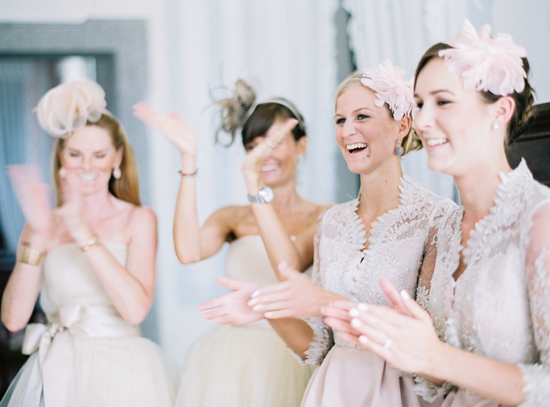 Bridesmaids at Getting Ready, stunning Villa wedding locations Italy