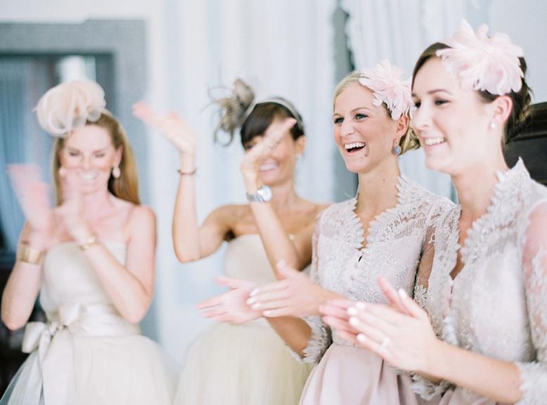 Bridesmaids at Getting Ready, stunning Villa wedding locations Italy