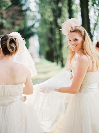 Prettiest bridesmaids at Italian destination wedding