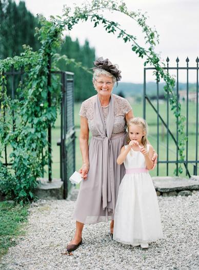 Guests at Italian destination wedding captured on film