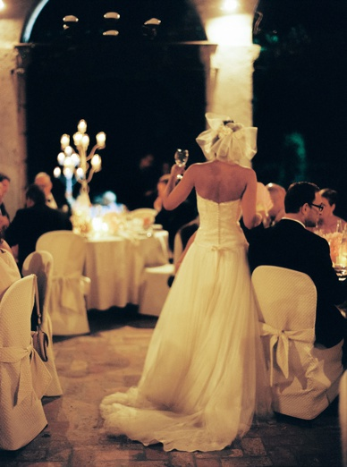 Stylish black tie wedding Italy