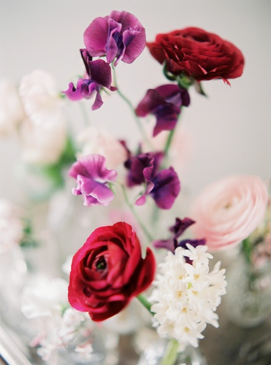Ranunculus red and pink flower inspiration